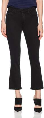 Siwy Women's Emmanuelle High-Waisted Crop Flare Jeans in Black Mirror 26