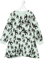 Mini Rodini panther print dress - kids - Organic Cotton/Spandex/Elastane - 3 yrs