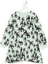 Mini Rodini panther print dress - kids - Organic Cotton/Spandex/Elastane - 5 yrs