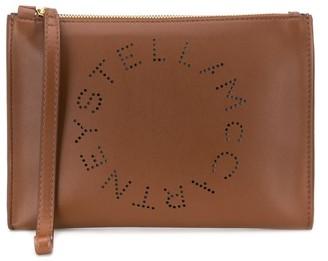 Stella McCartney perforated logo clutch