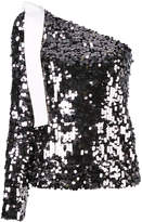 MSGM one shoulder sequin top