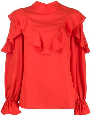 Jovonna London Pouf ruffle-trimmed blouse