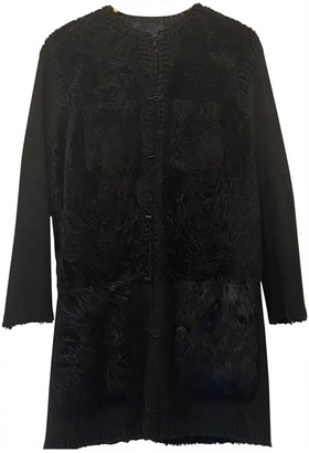 Lanvin Black Shearling Coat for Women