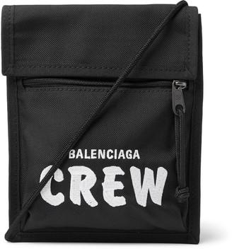 Balenciaga Explorer Logo-Embroidered Canvas Messenger Bag