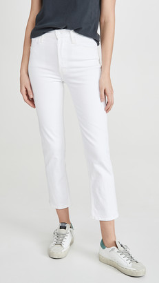 Mother The Tomcat High Waist Cropped Straight Jeans