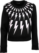 Neil Barrett Cropped Lightning Bolt Sweatshirt