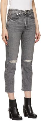 Rag & Bone Grey High-Rise Maya Jeans