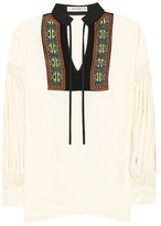 Etro Embroidered silk blouse