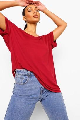 boohoo Oversized Boyfriend V Neck T-Shirt