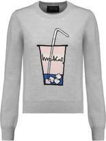 Markus Lupfer Grace embellished intarsia merino wool sweater