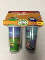 Playtex Playtime Boys Insulated Spoutless Cups, 2 Count (Colors May Vary)