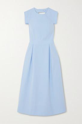 Three Graces London Jolene Open-back Cotton-poplin Dress - Sky blue