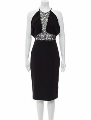 Cushnie Silk Knee-Length Dress Black