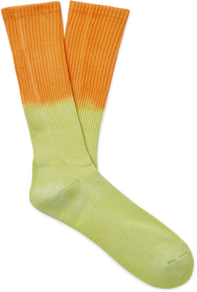 Mr P. Tie-Dyed Cotton-Blend Socks