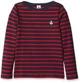 Petit Bateau Boy's Mariniere Long Sleeve Top,(Manufacturer Size:6A 6Ans)