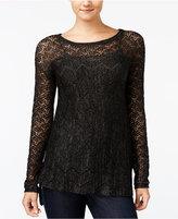 Jessica Simpson Darlanne Mixed-Knit Illusion Sweater