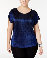 NY Collection Plus Size Metallic Top