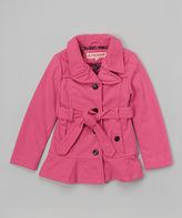 Urban Republic Pink Belt Coat - Girls