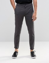 Lindbergh Cropped Casual Pant In Gray