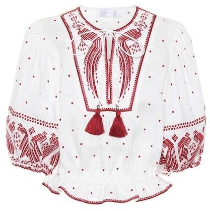 Zimmermann Exclusive to mytheresa.com – embroidered linen top
