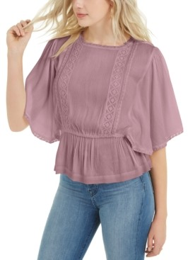 Vanilla Star Juniors' Flutter-Sleeve Top