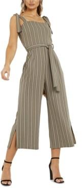 Quiz Tie-Waist Stripe Jumpsuit
