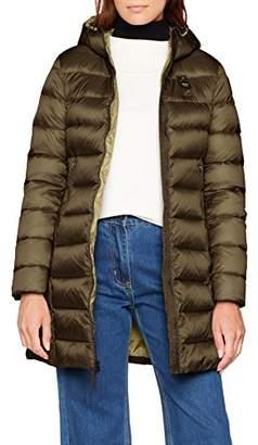 Blauer Women's IMPERMEABILE/Trench LUNGHI Imbottito Piuma Coat, (Grigio Asfalto Int. Verde Lichene 925vh), X-Large