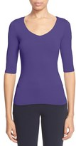 Armani Collezioni Women's Elbow Sleeve Stretch Jersey Tee