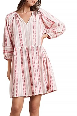 Velvet by Graham & Spencer Nona Cotton Printed Peasant Dress
