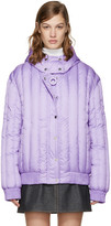 Carven Purple Crystal Hooded Jacket