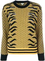 Kenzo contrast print sweatshirt - women - Polyamide/Wool - XS