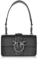 Pinko Women's Black Leather Shoulder Bag.