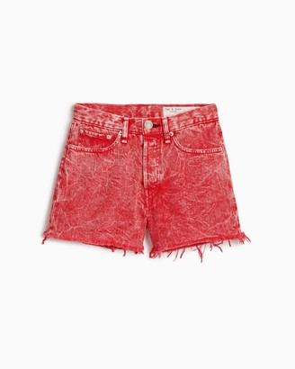Rag & Bone Maya high-rise short - marbled red