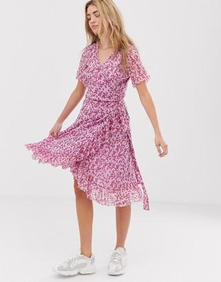 Résumé Resume Lacey floral wrap mini dress-Purple