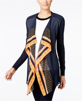 MICHAEL Michael Kors Mixed-Media Draped Cardigan