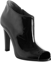 black patent leather 'Sacha' peep toe ankle boots