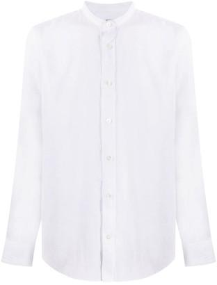 Eleventy Slim-Fit Collarless Shirt