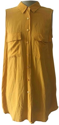 Equipment Yellow Silk Tops