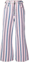 Miu Miu striped flared jeans