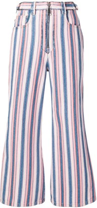 Miu Miu striped flared jeans
