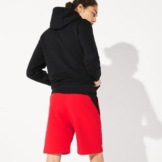 Lacoste Men's SPORT Crocodile Striped Colorblock Fleece Shorts
