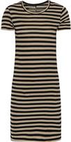Enza Costa Striped Pima cotton-jersey mini dress