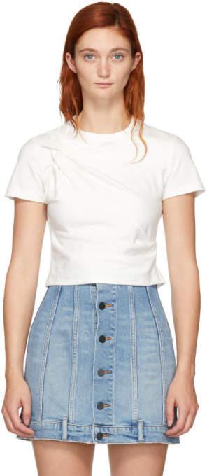 Alexander Wang White Twist Top T-Shirt