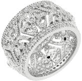 Kate Bissett Cubic Zirconia & Silvertone Filigree-Crest Eternity Ring