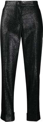 Pt01 glitter tailored trousers
