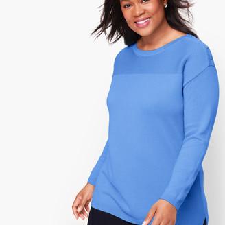 Talbots Contrast Stitch Sweater