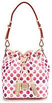 Dooney & Bourke Dots Collection Kendall Tasseled Drawstring Bag
