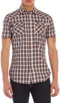 Diesel S-Zule Short Sleeve Plaid Shirt