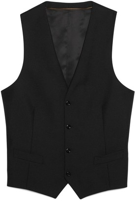 Gucci Wool mohair formal waistcoat