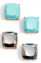 BP Women's Square Stud Earrings (Set Of 2)